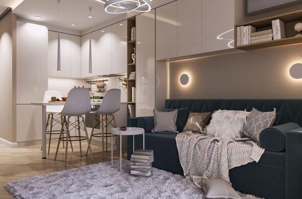 Квартира в стадии реализации 30 кв.м.Сочи 2019
