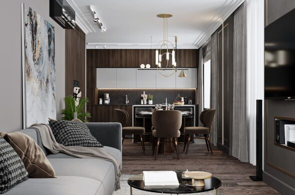 Реализованный проект квартиры в Москве 120 кв.м 2020